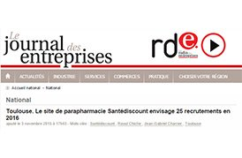 Toulouse. Le site de parapharmacie Santédiscount envisage 25 recrutements en 2016