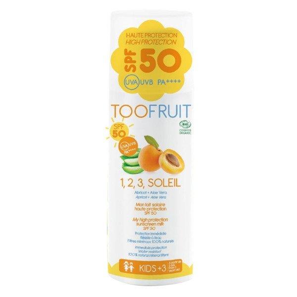 Toofruit Lait Solaire Abricot Aloe Vera Bio SPF50 Bio 100ml