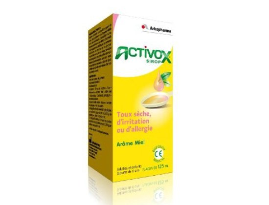 Activox Sirop Toux Sèche d'Irritation Miel 125ml
