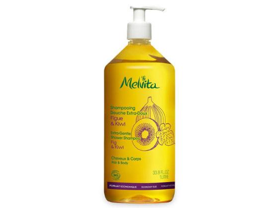 Melvita - Les Essentiels - Shampooing douche extradoux 1L